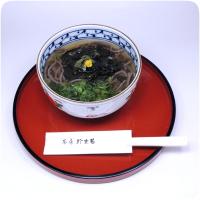 熊野那智大社・那智の滝・青岸渡寺の側 甘味処・お食事処・喫茶「茶房珍重庵 那智山店」メニュー写真 わかめそば